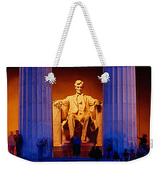 Lincoln Memorial, Washington Dc Weekender Tote Bag by Panoramic Images