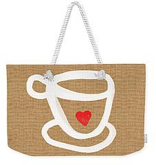 Little Cup Of Love Weekender Tote Bag by Linda Woods