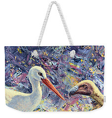 Living Between Beaks Weekender Tote Bag by James W Johnson