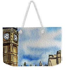 London England Big Ben Weekender Tote Bag by Irina Sztukowski