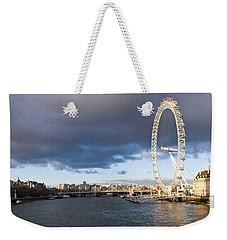 London Eye At South Bank, Thames River Weekender Tote Bag by Panoramic Images