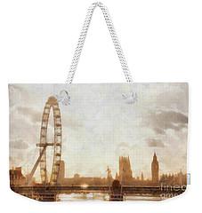 London Skyline At Dusk 01 Weekender Tote Bag by Pixel  Chimp
