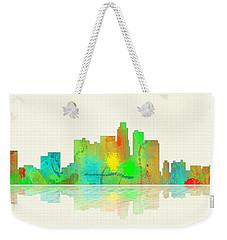 Los Angeles California Skyline Weekender Tote Bag by Marlene Watson