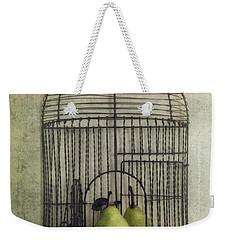 Love Is The Key With Typo Weekender Tote Bag by Priska Wettstein