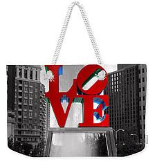 Love Isn't Always Black And White Weekender Tote Bag by Paul Ward