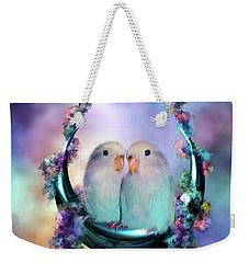 Love On A Moon Swing Weekender Tote Bag by Carol Cavalaris