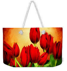 Lover's Hearts Weekender Tote Bag by Lourry Legarde