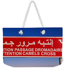 Low Angle View Of A Camel Crossing Weekender Tote Bag by Panoramic Images