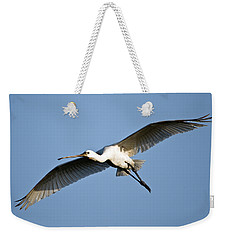 Low Angle View Of A Eurasian Spoonbill Weekender Tote Bag by Panoramic Images