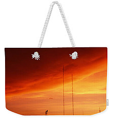 Low Angle View Of Antennas, Phoenix Weekender Tote Bag by Panoramic Images