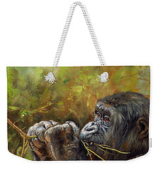 Lowland Gorilla 2 Weekender Tote Bag by David Stribbling