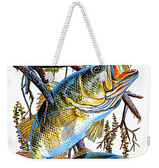 Lurking Bass Weekender Tote Bag by Carey Chen
