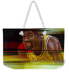 Magic Johnson Weekender Tote Bag by Marvin Blaine