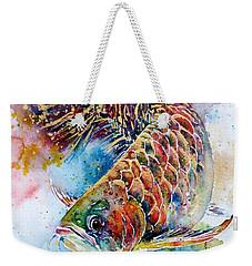 Magic Of Arowana Weekender Tote Bag by Zaira Dzhaubaeva