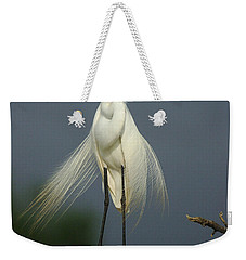 Majestic Great Egret Weekender Tote Bag by Bob Christopher