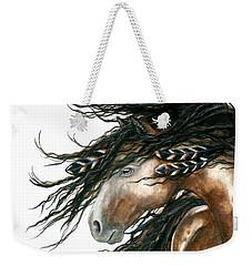 Majestic Pinto Horse 80 Weekender Tote Bag by AmyLyn Bihrle