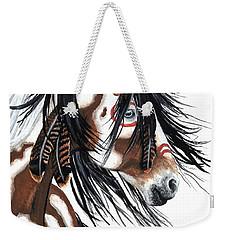 Majestic Pinto Horse Weekender Tote Bag by AmyLyn Bihrle