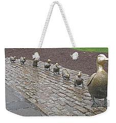 Make Way For Ducklings Weekender Tote Bag by Barbara McDevitt