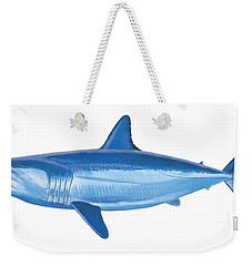 Mako Shark Weekender Tote Bag by Carey Chen