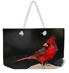 Male Cardinal Weekender Tote Bag by Gary Langley