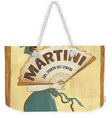 Martini Dry Weekender Tote Bag by Debbie DeWitt