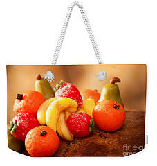 Marzipan Fruits Weekender Tote Bag by Amanda Elwell