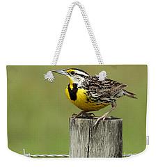 Meadowlark On Watch Weekender Tote Bag by Myrna Bradshaw