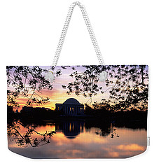 Memorial At The Waterfront, Jefferson Weekender Tote Bag by Panoramic Images