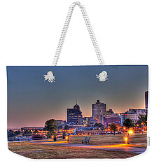 Cityscape - Skyline - Memphis At Dawn Weekender Tote Bag by Barry Jones