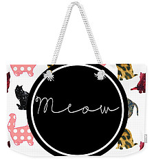 Meow Weekender Tote Bag by Pati Photography