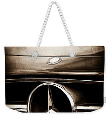 Mercedes-benz Grille Emblem Weekender Tote Bag by Jill Reger