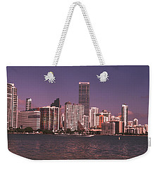 Miami Skyline Abstract IIi Weekender Tote Bag by Christiane Schulze Art And Photography