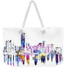 Miami Skyline Weekender Tote Bag by Doc Braham