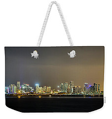 Miami Skyline View II Weekender Tote Bag by Rene Triay Photography