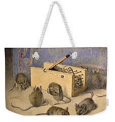 Mice And Huntley Palmers Superior Biscuits Weekender Tote Bag by Agnes Louise Holding