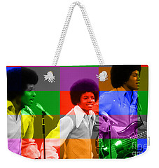 Michael Jackson And The Jackson 5 Weekender Tote Bag by Marvin Blaine