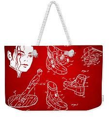 Michael Jackson Anti-gravity Shoe Patent Artwork Red Weekender Tote Bag by Nikki Marie Smith
