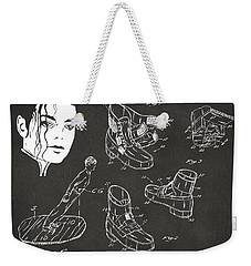Michael Jackson Anti-gravity Shoe Patent Artwork Vintage Weekender Tote Bag by Nikki Marie Smith