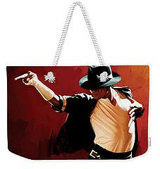 Michael Jackson Artwork 4 Weekender Tote Bag by Sheraz A