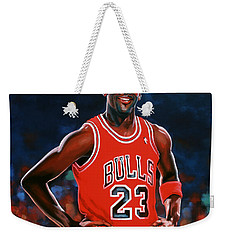 Michael Jordan Weekender Tote Bag by Paul Meijering