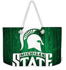 Michigan State Barn Door Weekender Tote Bag by Dan Sproul