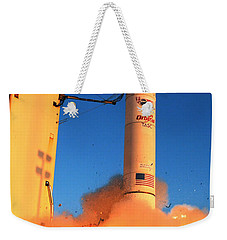 Minotaur Iv Rocket Launches Falconsat-5 Weekender Tote Bag by Science Source