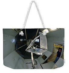 Weekender Tote Bag featuring the photograph Model Airplane In Wind Tunnel by Science Source