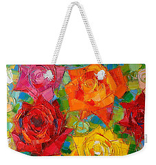 Mon Amour La Rose Weekender Tote Bag by Mona Edulesco