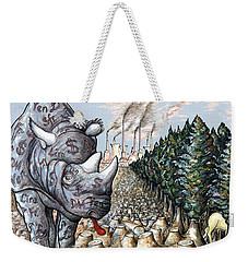 Money Against Nature - Cartoon Art Weekender Tote Bag by Art America Online Gallery