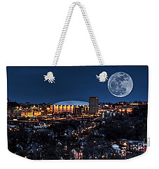 Moon Over The Carrier Dome Weekender Tote Bag by Everet Regal