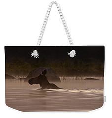 Moose Swim Weekender Tote Bag by Brent L Ander