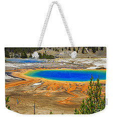 Grand Prismatic Geyser Yellowstone National Park Weekender Tote Bag by Edward Fielding