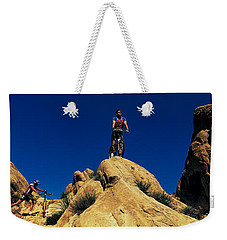 Mountain Bikers Ca Usa Weekender Tote Bag by Panoramic Images