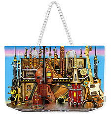 Music Castle Weekender Tote Bag by Colin Thompson